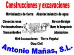 CONSTRUCCIONES Y EXCAVACIONES ANTONIO MAÑAS, SL